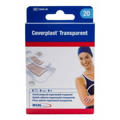 COVERPLAST TIRITAS IMPERMEABLES TRANSP 19X72 MM 10 UNI