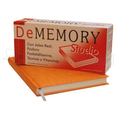 DEMEMORY STUDIO AMPOLLAS. 20 ampollas bebibles de 5 ml