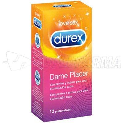 DUREX PRESERVATIVO DAME PLACER. 12 unidades
