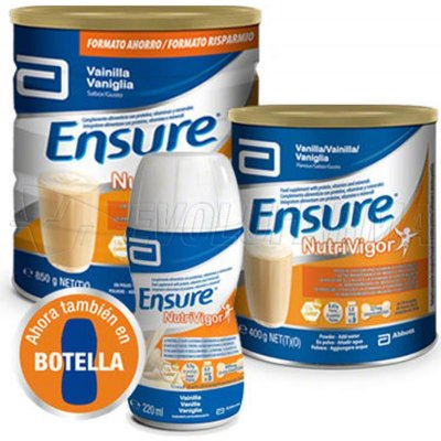 ENSURE NUTRIVIGOR SABOR CHOCOLATE. Lata 850 g