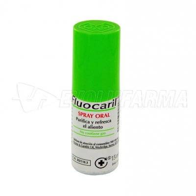 FLUOCARIL SPRAY ORAL. Envase 15 ml.