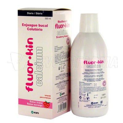 FLUOR KIN CALCIO. COLUTORIO INFANTIL. Envase 500 ml.