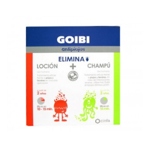 GOIBI ANTIPIOJOS ELIMINA CHAMPU + LOCION + SPRAY KIT