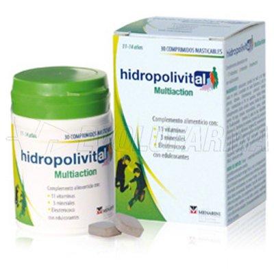 HIDROPOLIVITAL MULTIACTION COMPRIMIDOS MASTICABLES. 30 Comprimidos