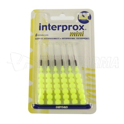 INTERPROX MINI CEPILLOS INTERPROXIMALES. 6 Uds
