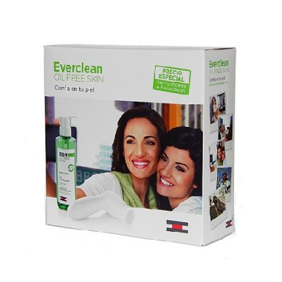 ISDIN EVERCLEAN FACIAL BRUSH & GEL PURIFICANTE PACK. 240 ml