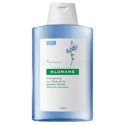 KLORANE CHAMPÚ FIBRAS LINO. 400 ml