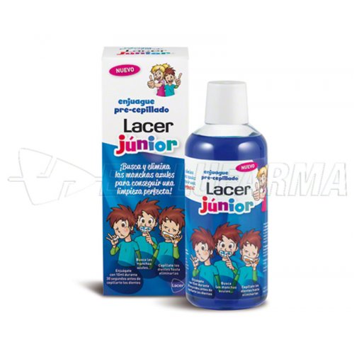 LACER ENJUAGUE PRE CEPILLADO JUNIOR. 500 ml
