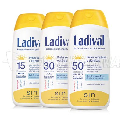 LADIVAL GEL-CREMA OIL FREE PIELES SENSIBLES O ALÉRGICAS FPS 30. 200 ml