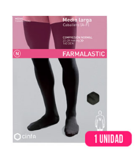 MEDIA CABALLERO LARGA (A-F) COMP NORMAL FARMALASTIC SILICONA T- EGDE 2 U