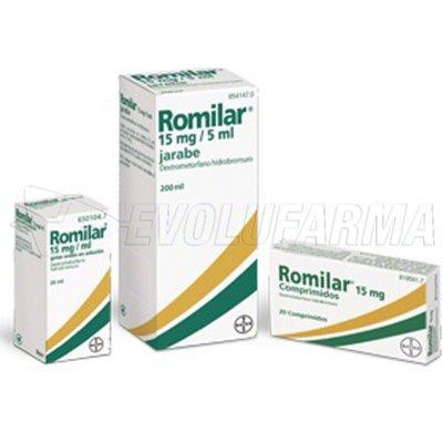 ROMILAR 15 mg/ml GOTAS ORALES EN SOLUCION, 1 frasco de 20 ml