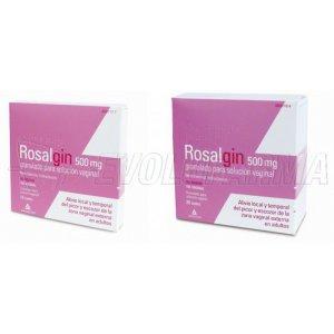 ROSALGIN 500 mg GRANULADO PARA SOLUCION VAGINAL, 20 sobres