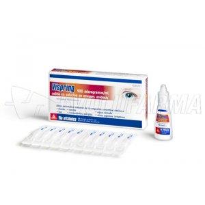 VISPRING 500 microgramos/ml COLIRIO EN SOLUCION EN ENVASE UNIDOSIS, 10 envases unidosis de 0,5 ml