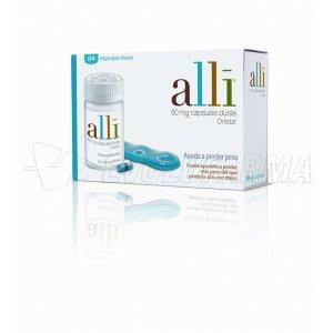 ALLI 60 mg CAPSULAS DURAS, 84 cápsulas