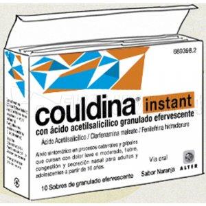 COULDINA INSTANT CON ACIDO ACETILSALICILICO GRANULADO EFERVESCENTE , 20 sobres