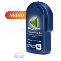 NICORETTE SUPERMINT 2 mg COMPRIMIDOS PARA CHUPAR EFG, 20 comprimidos
