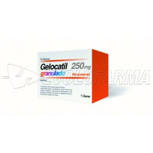 GELOCATIL PEDIATRICO 250 mg granulado , 12 sobres