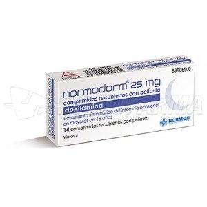 NORMODORM 25 MG COMPRIMIDOS RECUBIERTOS CON PELICULA , 14 comprimidos