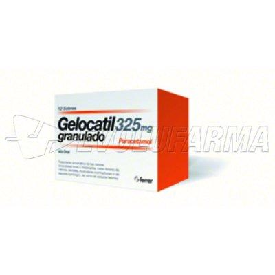 GELOCATIL PEDRIATRICO 325 mg granulado , 12 sobres