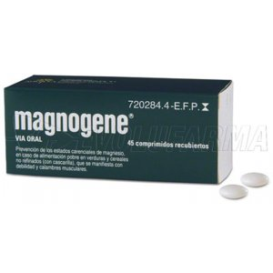 MAGNOGENE 53 mg COMPRIMIDOS RECUBIERTOS, 45 comprimidos