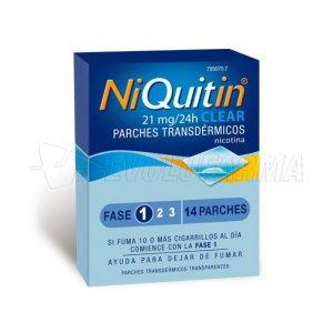 NIQUITIN CLEAR 21 mg/24 HORAS PARCHES TRANSDERMICOS, 14 parches transdérmicos