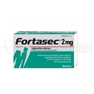 FORTASEC 2 mg capsulas duras , 20 cápsulas