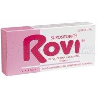 SUPOSITORIOS DE GLICERINA ROVI LACTANTES, 10 supositorios