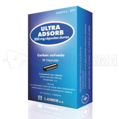 ULTRA ADSORB 200 mg CAPSULAS DURAS, 30 cápsulas