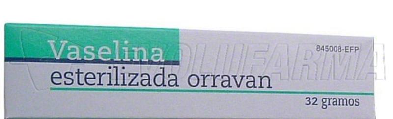 VASELINA ESTERILIZADA PURA ORRAVAN POMADA , 1 tubo de 32 g