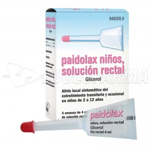 PAIDOLAX NIÑOS, SOLUCIÓN RECTAL, 4 enemas de 4 ml