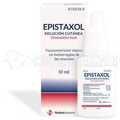Epistaxol solución cutánea, 1 frasco de 10 ml