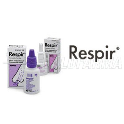 RESPIR 0,5 mg/ml SOLUCION PARA PULVERIZACION NASAL , 1 frasco de 20 ml (Frasco+bomba pulverizadora)