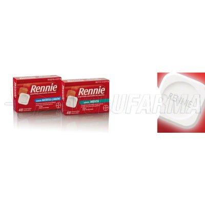 RENNIE  COMPRIMIDOS MASTICABLES CON SACARINA, 48 comprimidos