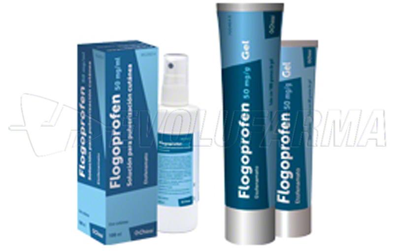 FLOGOPROFEN 50 mg/ml SOLUCION PARA PULVERIZACION CUTANEA , 1 frasco de 100 ml