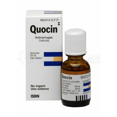 QUOCIN 120 mg/ 60 mg/ ml COLODION , 1 frasco de 20 ml