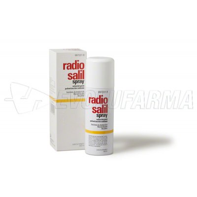 RADIO SALIL SPRAY SOLUCION PARA PULVERIZACION CUTANEA , 1 envase a presión de 130 ml