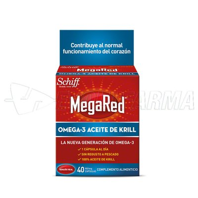 MEGARED 500 OMEGA 3 ACEITE DE KRILL. 40 Cápsulas