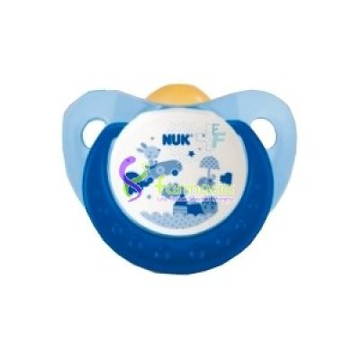 NUK CHUPETE LATEX NUKETE COTTON PARTY AZUL T-2