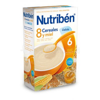 NUTRIBEN 8 CEREALES Y MIEL CALCIO, 600g