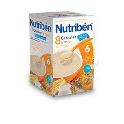 NUTRIBEN 8 CEREALES Y MIEL CON LECHE ADAPTADA, 600g
