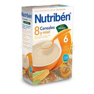 NUTRIBEN 8 CEREALES Y MIEL EFECTO BIFIDUS, 300g
