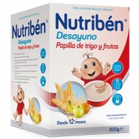 NUTRIBEN DESAYUNO PAPILLA DE TRIGO CON FRUTA 600