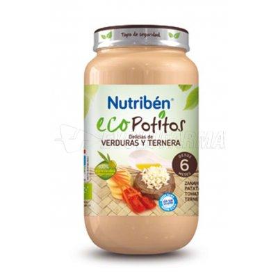 NUTRIBEN ECOPOTITO TERNERA CON VERDURAS, 250g