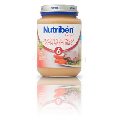 NUTRIBEN POTITO JAMÓN TERNERA Y VERDURA, 200g