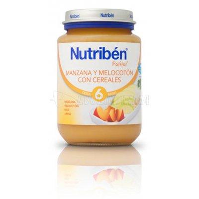 NUTRIBEN POTITO MANZANA MELOCOTÓN CON CEREALES, 200g