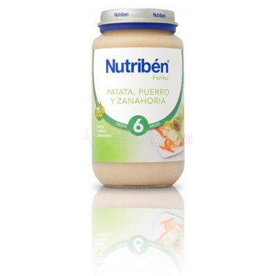 NUTRIBEN POTITO PATATA PUERRO Y ZANAHORIA, 250g