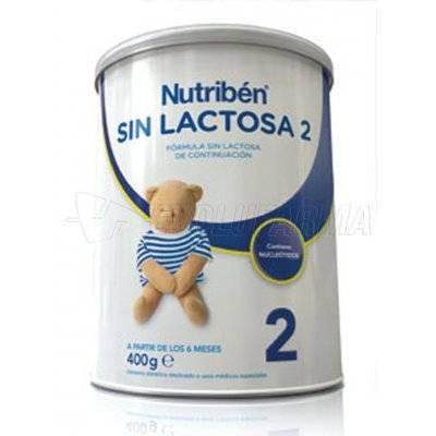 NUTRIBEN SIN LACTOSA 2, 400g