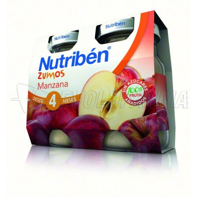 NUTRIBEN ZUMO MANZANA, 130ml 2 Unidades