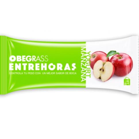 OBEGRASS ENTREHORAS BARRITA YOGURT Y MANZANA 30 G