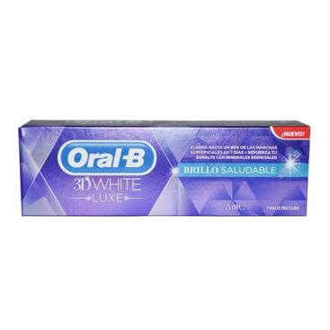 ORAL-B 3DWHITE PASTA DENTAL LUXE BRILLO SALUD 75